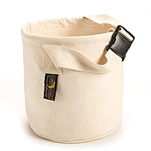 Florida Coast CB15011 Canvas Bucket with Strap, Large, Natural