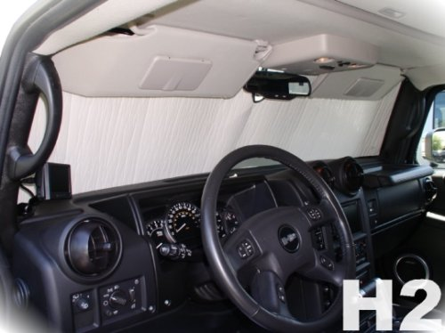 Sunshade for Hummer H2 Year(s)2002 2003 2004 2005 2006 2007 2008 2009 2010 HEATSHIELD Custom-fit Sunshade #029 (Hummer H2 Windshield compare prices)