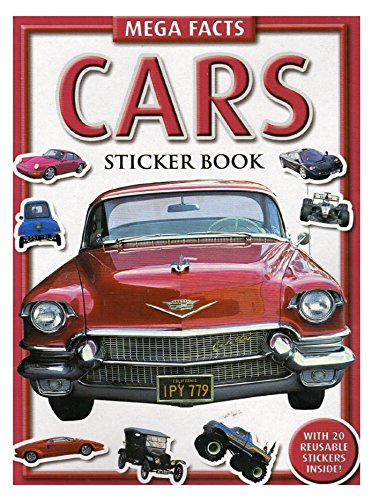Mega Facts - Cars - Sticker Book with 20 Stickers - 1