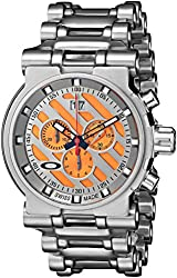 Oakley Men's 10-047 Hollow Point Orange Dial Watch