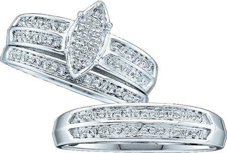 0.28CTW ROUND DIAMOND LADIES MICRO PAVE TRIO SET