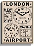 Kairos Frequent Flyers Wall Clock(62.2X43.1 CM)