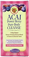 Natures Secret Acai Power Berry Pure Body Cleanse Tablets