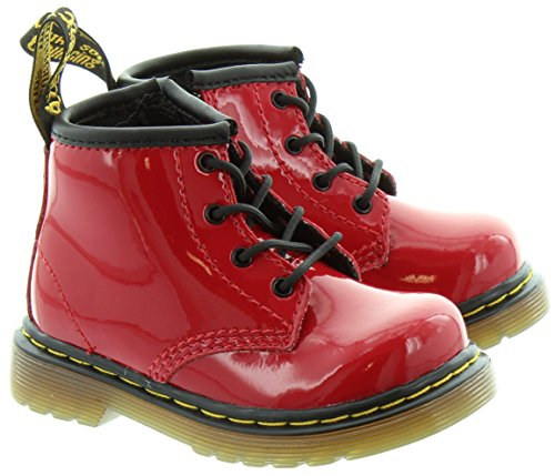 Dr. Martens CORE BROOKLEE B, Stivali Unisex Bambino, Rosso (Rouge), 20