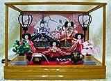 【新作雛人形】【ケース飾り雛人形】小三五五人飾りケース付き雛人形【5人飾りひな人形】ks35-5