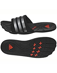 Adidas Men's Adipure Slide M Red, Black And Grey Flip-Flops And House Slippers - 10 UK