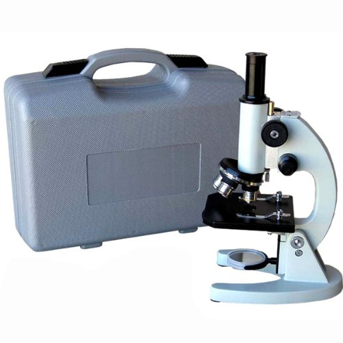Amscope M60A-Abs Beginner Microscope Kit, Led And Mirror Illumination, Wf10X And Wf16X Eyepieces, 40X-640X Magnification, Includes Case