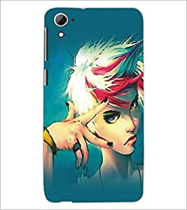 PrintDhaba Stylish Girl D-5417 Back Case Cover for HTC DESIRE 826 (Multi-Coloured)