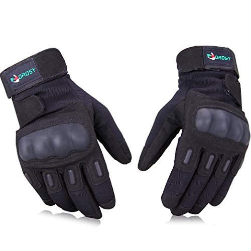 VOROSY Military Army Tactical Gloves, Hunting Gloves, Airsoft Gloves, Cycling Gloves Used for Combat Sports Outdoor Hiking Camping Climbing Motorcycle/Bicycle/Bike Riding Airsoft Shooting (Knuckle Protection, Breathable Material,Adjustable Design, 1-Year Warranty)