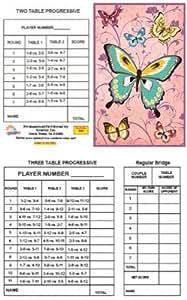 Bridge Tallies - Pink Gold - (12 Pack) 2 & 3 Table Progessive