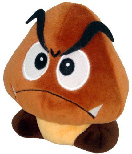 "Super Mario Plush - 5"" Goomba Soft Stuffed Plush Toy Japanese Import - 1"