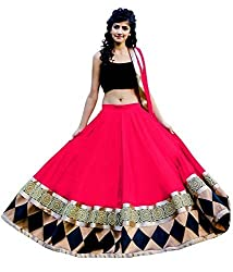 Sanjana Design Womens Faux Georgette Lehenga Choli (SD1953_Pink_Free Size)