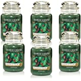 Yankee Candle Company Balsam and Cedar 22-Ounce Jar Candle, Large, Set of 6