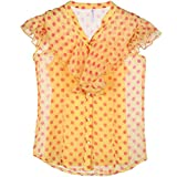 Poppers by Pantaloons Girl's BLOUSE 205000005563536_Yellow_15-16 Years