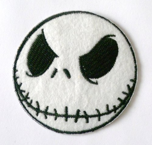 Jack Nightmare Before Christmas Iron on Sew on Embroidered Patch Badge Applique Motif by ChewyBuy
