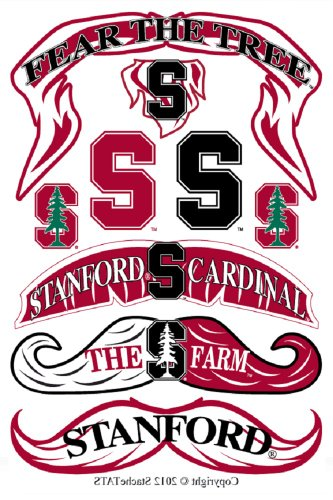 StacheTATS Stanford Temporary Mustache Tattoos - 1