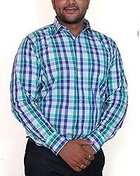 True Men Men's Casual Shirt (Ch_Wtbg_Multicolor_X-Large)