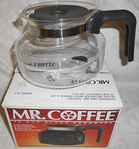 Mr-Coffee-10-Cup-Glass-Decanter-Carafe-Model-D-7-Fits-Black-Decker-Spacemaker-SDC2A-SDC2D-SDC3A-Bunn-Pour-Omatic-GR-General-Electric-GE-Spacemaker-SDC2-SDC3-Norelco-C164-C564-CT162-CT663-Dial-A-Brew-H