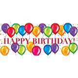 Creative Converting Birthday Balloons Giant Party Banner, Multicolor