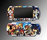 Kingdom Hearts Mickey Sora RPG Minnie Mouse Yuna Rikku Donald Duck Goofy Video Game Vinyl Decal Skin Protector Cover Sticker Kit for Sony PSP 1000 Playstation Portable