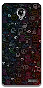 The Racoon Grip Halloween hard plastic printed back case / cover for Alcatel Onetouch Idol X 6040D