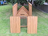 XL Sussex Hundehütte Aus Holz Mit Entfernbarem Boden Zur Einfachen Reinigung A - 7