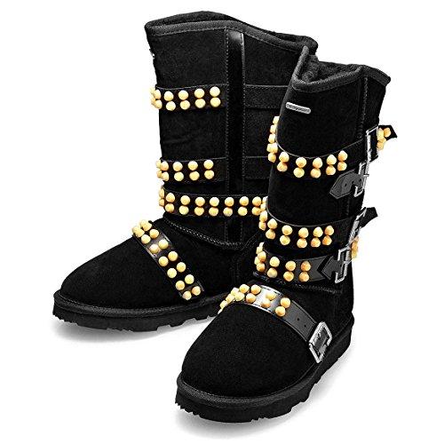 KOS Signature-Josephine Limited,Nero,Pelle di Pecora Jazz & Modern Inverno Stivali da Neve Donna 41
