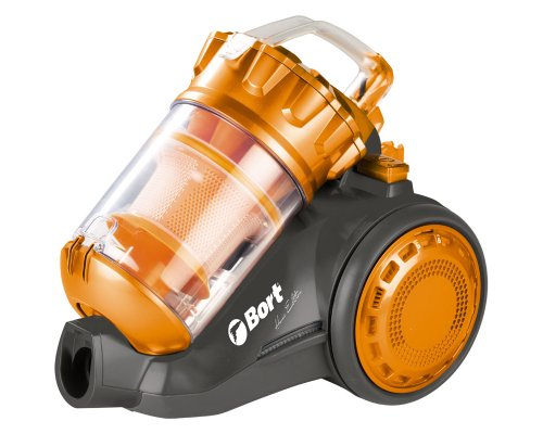 Bort 98292787 BSS-1800N-O Multi-Zyklon Bodenstaubsauger, beutellos, 1800 Watt, 1.7 Liter Behältervolumen, orange