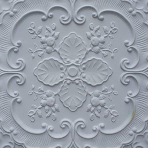 PL19 imitation peinture 3D dalles de plafond Blanc mat pour décoration en relief de fond photosgraphie Panneaux muraux 10pieces/lot