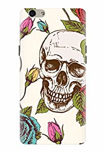 Noise Designer Printed Case / Cover for Oppo F1s / Patterns & Ethnic / Skull With Roses Design
