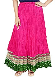 Rangreja Women's Skirt (WESK101PG38_Pink_38)