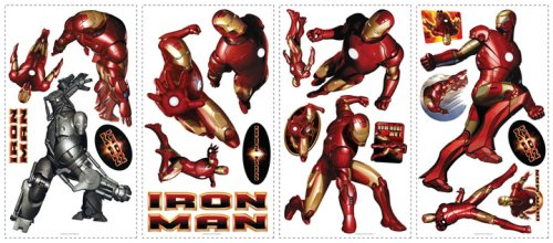 RoomMates RMK1190SCS Iron Man Peel and Stick Wall Decal