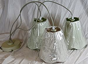 Starlite Triple Cluster Floral Shades Electric Pendant - Ceiling Lighting - Light Shade