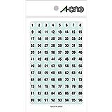 エーワン(A-one) 特殊ラベル 数字 白 丸型 9mmφ 4シート(1~100 各4片) 08086