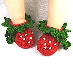 Newborn Baby Infant Girls Flower Bow Tie Crochet Knit Socks Crib Shoes Prewalker 0-12 Months (Type 5)