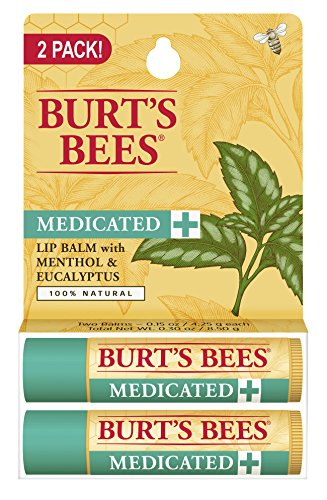 burts-bees-100-natural-medicated-moisturizing-lip-balm-with-menthol-eucalyptus-2-tubes-in-blister-bo
