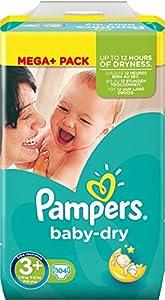 Pampers Baby Dry größe 3+ Midi Plus 5-10 kg Mega Pack, 1er Pack (1 x 102 Stück)