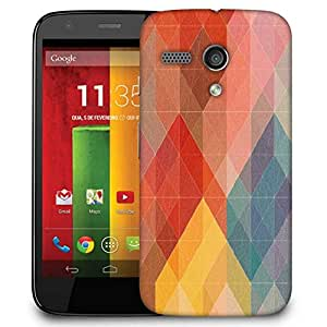 Snoogg Geometic Formations Colourful Case Cover For Motorola G / Moto G