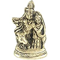 Prisha India Craft ® Diwali Gift Best Quality Handmade Brass Statue Of Shri Krishna And Radha , Statue Of God...