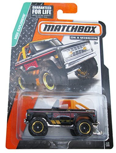 Matchbox MBX Explorers Ford Bronco 4X4 - 1972 Black #113/120