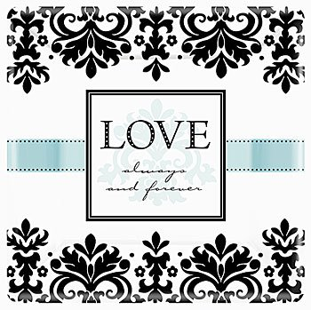Love Always and Forever Elegant Lunch Plates 8ct, Wedding Supplies and D�cor