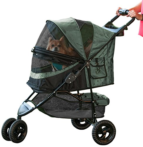 Pet Gear No-Zip Special Edition Pet Stroller, with Zipperless Entry, Sage