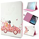 Arden Bling Rhinestone Colorful Pattern Holster Series for PU Leather Smart Cover Apple iPad Case for Apple iPad Air 2 / iPad Air / iPad 2nd / iPad 3rd / iPad 4th Generation / iPad Mini 1st / 2nd / 3rd Generation Retina Premium Elegant 3D Girl Bling Shin