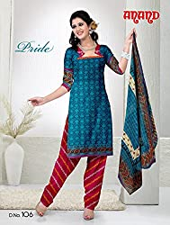 Anand Prints Women's Cotton Unstitched Dress Material (Dno106_MultiColored)