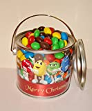 Christmas peanut butter M&M's gift pot