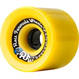 Sector 9 Race Formula Off-Set Skateboard Wheel, Yellow, 70mm 78A by Sector 9