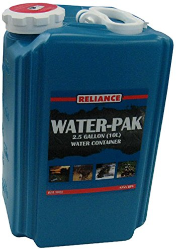 Reliance Products Water-Pak 2.5 Gallon Barrel Shaped Rigid Water Container