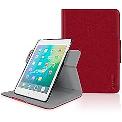 iPad Mini 3 Case, roocase Orb Folio iPad Mini Leather Case Smart Cover with Sleep / Wake Feature for Apple iPad Mini 3 2 1, Red - Patented Complete Lifestyle Solution