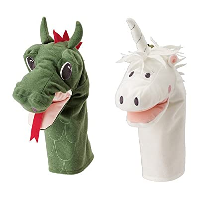 Ikea Hand Puppet Unicorn Dragon (Set of 2) by dragon