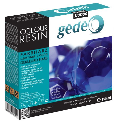 Pebeo Gedeo Color Resin, 150ml, Lapis Blue (Crystal Resin compare prices)